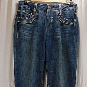 CACHE Womens 2 Small Blue Jeans Contour Collection
